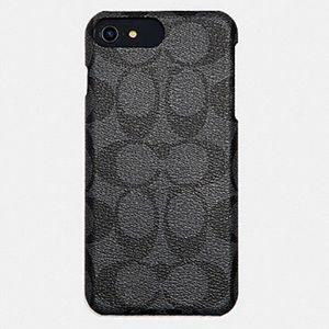 NEW! Coach Grey/Black Sig C iPhone 8 Plus Case